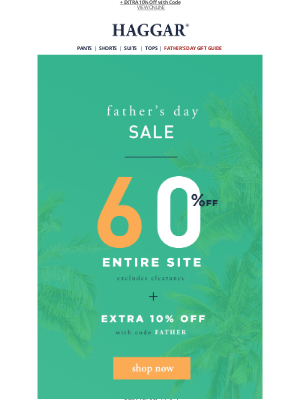 Haggar Clothing Co. - Celebrate Dad with 60% Off!