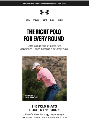 Under Armour - Jordan Spieth's favorite polos for any conditions