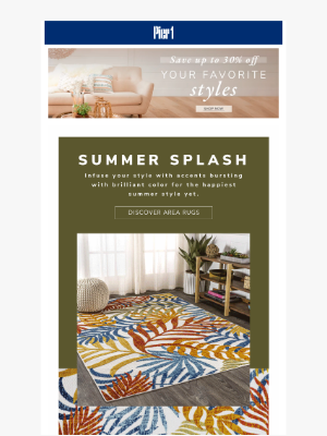 Pier 1 Imports - carry, Splash into summer with the hottest hues & UP TO 30% OFF