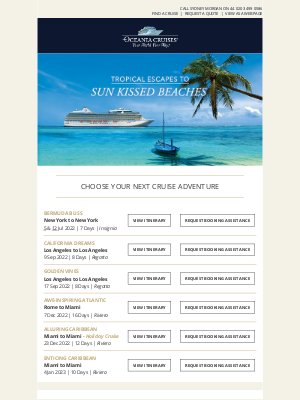 Oceania Cruises - It's Time to Plan Your Tropical Escape