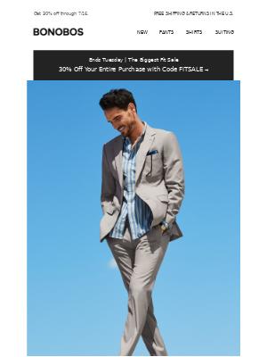 Inside: 30% Off & Our Lightest Summer Suits