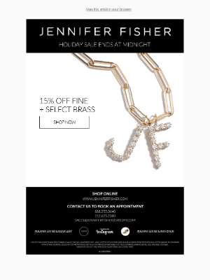 Jennifer Fisher Jewelry - HOLIDAY SALE ENDS AT MIDNIGHT