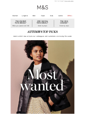 Marks and Spencer (UK) - The five-star autumn edit 🏆