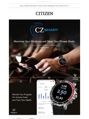 Citizen Watch Company - Want to stay in shape? Reach your goals with CZ Smart.