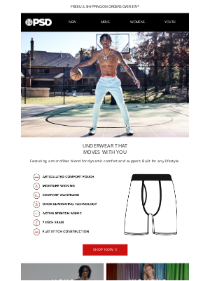 PSD Underwear - Underwear that moves with you