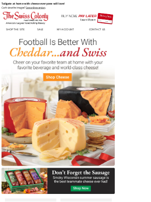 The Swiss Colony - Cheer On Your Team With Cheese