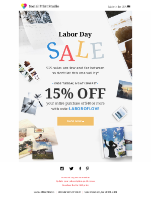 Labor Day Sale final hours ⏰ 15% off everything