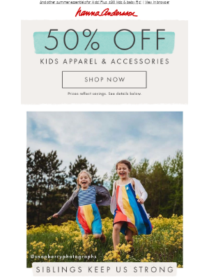 50% off built-to-last dresses