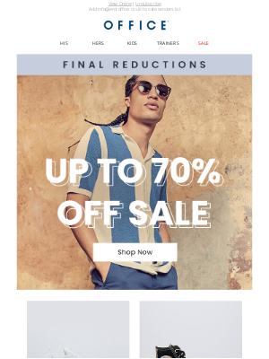 OFFICE Shoes (UK) - Final Sale Reductions now on