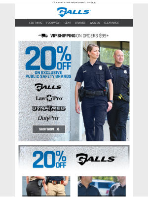 Exclusive Public Safety Brands | Now 20% off