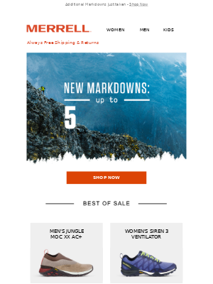 NEW MARKDOWNS: Up to 50% OFF favorite styles