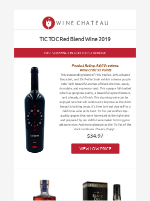 Wine Chateau - Re:  Tic Toc Red into the New Year 2021!