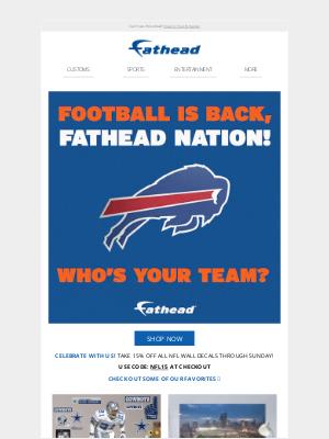 Fathead - FOOTBALL IS BACK! 🏈