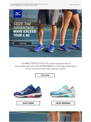 Mizuno Running - 🎾 Experience the Wave Exceed Tour AC and Wave Exceed SL in New Colors