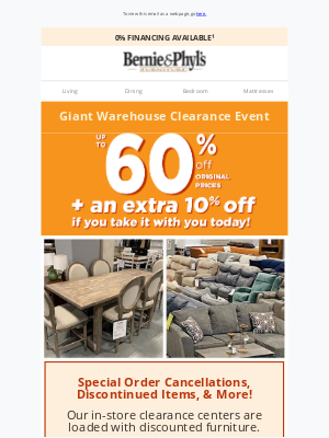 Bernie & Phyl's Furniture - 🎈 GIANT Warehouse Clearance Event 🎈 Up to 60% OFF! 🎈