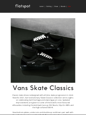 Flatspot - Vans Skate Classics 'Blackout Pack' - Available Now