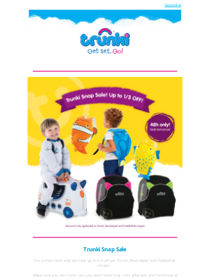 Trunki (UK) - Trunki Snap Sale 🤩 Up to 1/3 Off ⭐