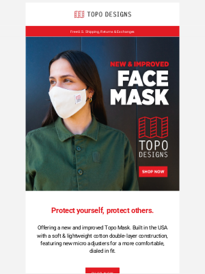 Topo Designs - Face Masks: New & Improved