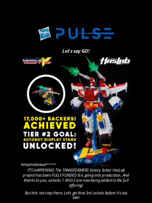 Hasbro - ONLY A FEW MORE DAYS TO BACK!