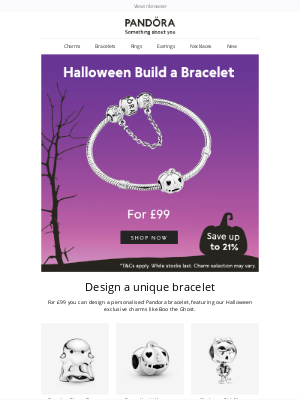 Pandora Jewelry USA - Exclusively designed : build a bracelet for £99