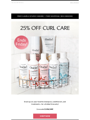 Ouidad - Tick. Tock. The Curl Care Sale + Free Gift ends tonight!