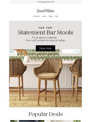 Joss & Main - Statement bar stools →