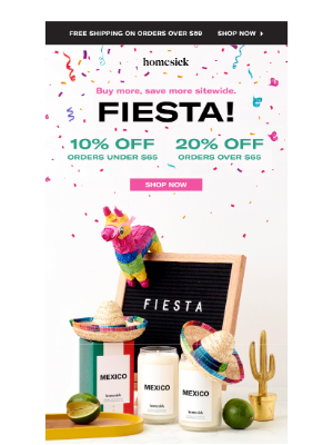 Homesick Candles - Fiesta time! 🥳 🎉