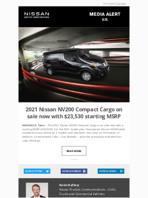 Nissan - 2021 Nissan NV200 Compact Cargo on sale now with $23,530 starting MSRP