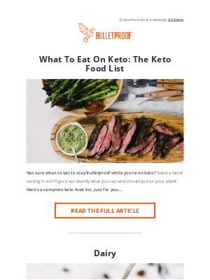 BULLETPROOF Inc - KETO: The Complete Food List