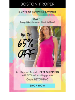 Surprise Savings! Up To 65% Off ALL Beyond Travel + Free Shipping