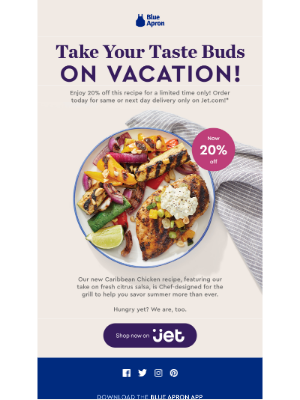 20% off Caribbean chicken is going...going...almost gone!