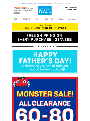The Children's Place - EXTRA 60% off All Clearance - IN STORES ONLY!
