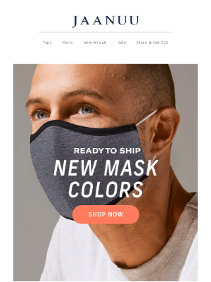 Jaanuu - New Mask Colors Now in Stock