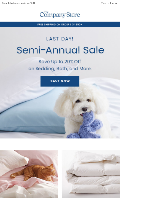 Don't Miss Out: Up to 20% Off Semi-Annual Sale ENDS TODAY!
