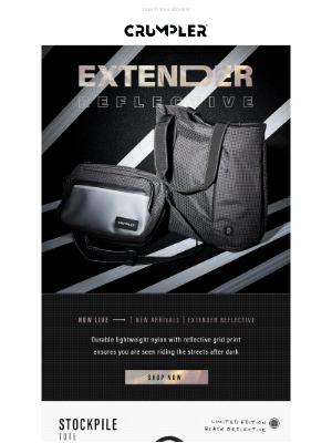 Crumpler - New Arrivals | The Extender Reflective Range