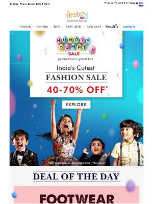India's Cutest Fashion Sale! Get 40-70% OFF