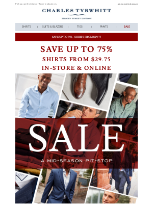 Charles Tyrwhitt - It wouldn't be a SALE without shirts from $29.75