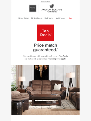 American Signature - A sofa for only $400?! 😲