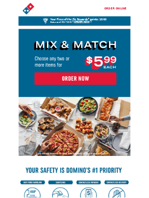Domino's Pizza - Don't worry about dinner. We've got it covered 🍕