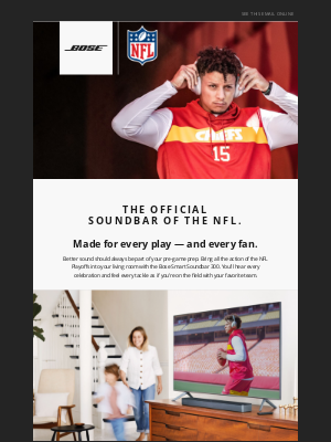 Bose - Bose + the NFL | Are you ready for the playoffs?