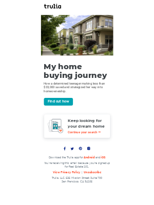 Trulia - How this teenager bought her own home