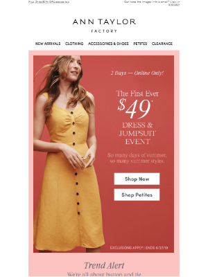 The First Ever $49 Dress & Jumpsuit Event Is Here!