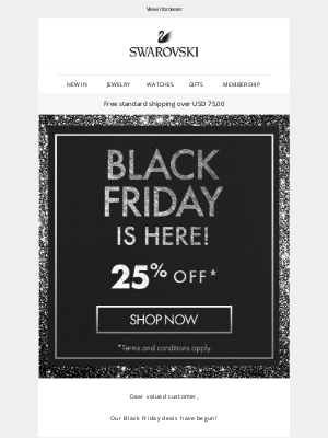 Swarovski - It's started! The Black Friday deal is here 🙌