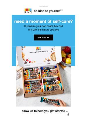 KIND Snacks - Self-care tip: enjoy a healthy snack from a custom snack box