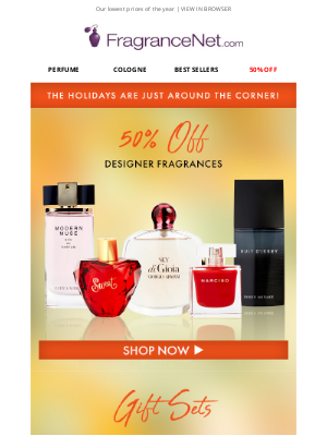 FragranceNet - Cheer starts here! Get started on your holiday shopping…
