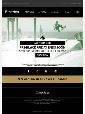 Emerica - Last Chance ⏳Pre-Black Friday Deals + Free Shipping