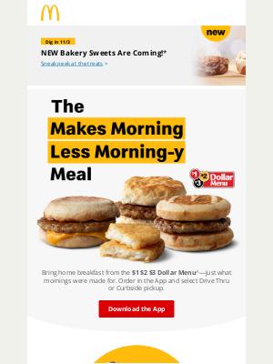 McDonald's - The $1 $2 $3 Dollar Menu for breakfast