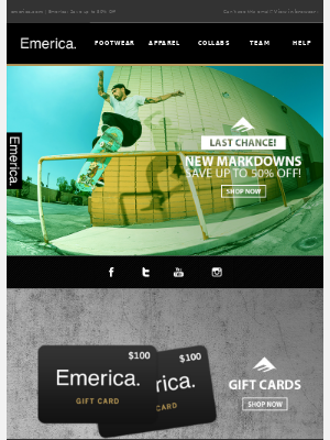 Emerica - Last Chance ⌛ Deals from Emerica