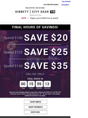 Time is T I C K I N G ⏱️ - SAVE up to $35!