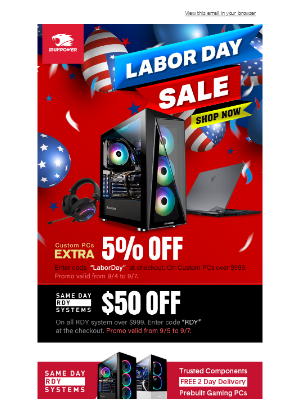 iBUYPOWER - Labor Day Weekend Sale!